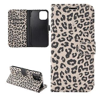 iPhone 12 / 12 Pro Wallet Case Leopard - Beige