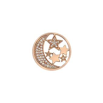 Emozioni Sterling Silver Plate Notturno Rose Gold Plate 25mm Coin EC518
