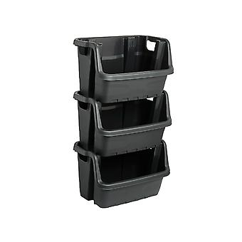 Ward Heavy Duty Stacking Crate Black HW429-BLK-ST
