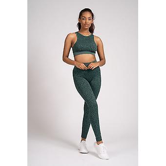 South Beach Green Leopard Print Quality Gym Leggings Loungewear / Activewear Squattable