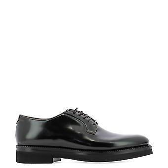 Fabi Fu9186 Men's Black Leather Lace-up Shoes