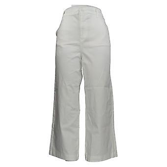 DG2 af Diane Gilman Women's Pants Ivory Pockets Beskåret Bomuld 725-085