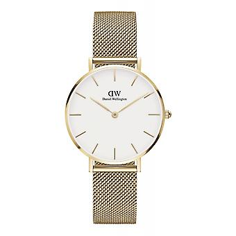 Daniel Wellington DW00100348 Petite Evergold White Dial Gold Tone Wristwatch