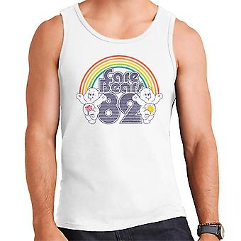 Care Bears 82 Rainbow Funshine Bear And Share Bear Men's Vest