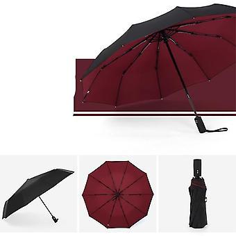 A prueba de viento, doble capa, paraguas automático y plegable