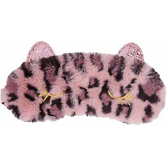 Topmodel Cute Sleep Cat Mask Fake Fur Assorted Colours - One Only