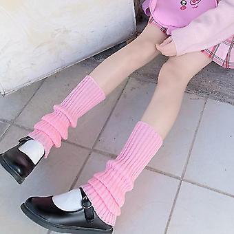Japanese Sweet Leg Warmers Wool Ball Knitted Foot Cover Autumn Winter Socks