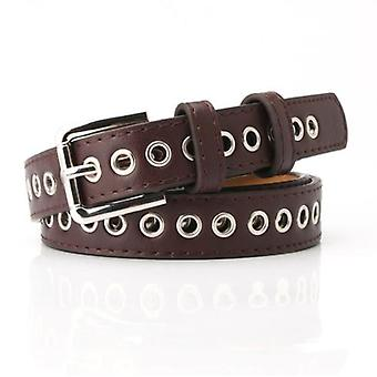 The New Metal Full-hole Design Belt Belt Free Perforation Versatile Fashion Hollow Decorative Belt
