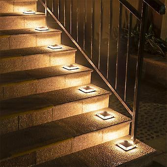 Solar Underground Lampe 1pcs wasserdichte Treppe Licht Wand Eingebettete Beleuchtung Schritt
