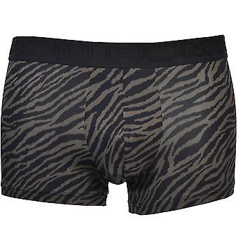 HOM Zebra Print Boxer Trunk, Kaki