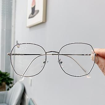 Läpinäkyvät lasikehykset Retro Ylisized Optiset silmälasit / naiset
