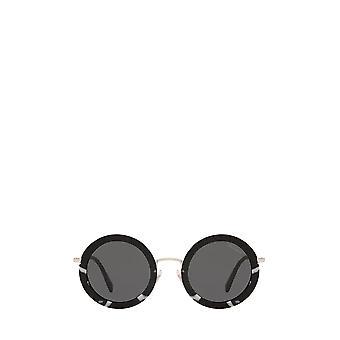 Miu Miu MU 59US havana gafas de sol femeninas blancas / negras