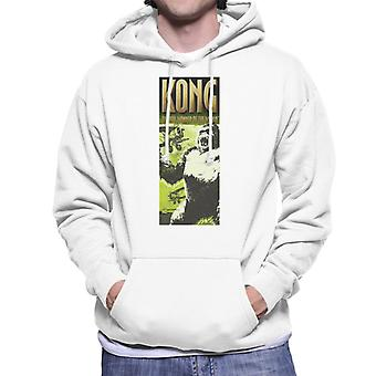 King Kong Being Swarmed By Biplanes The 8th Wonder Of The World Men's Hooded Sweatshirt