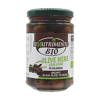 Italian Black Pitted Olives in Brine 280 g