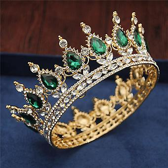 Crystal Vintage Royal Queen King Tiaras And Crowns, Men/women Pageant Prom