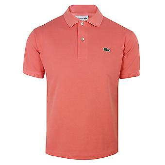 Lacoste men's pink polo shirt