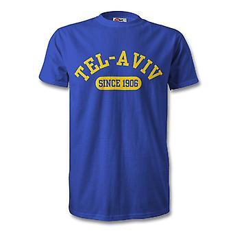 Maccabi Tel Aviv 1906 perustettu Football t-paita