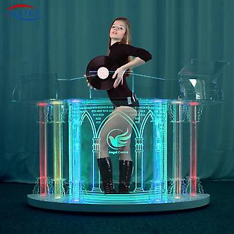 Acrylic Dj Table Led Colorful Movable Booth Equipment Lights Stand Desk Bass