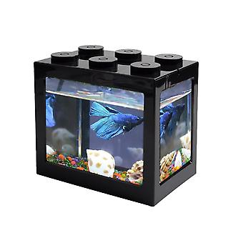 Usb mini acquario desktop led fish tank