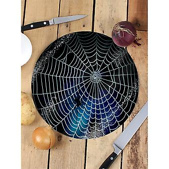 Grindstore Deadly Web Glass Chopping Board