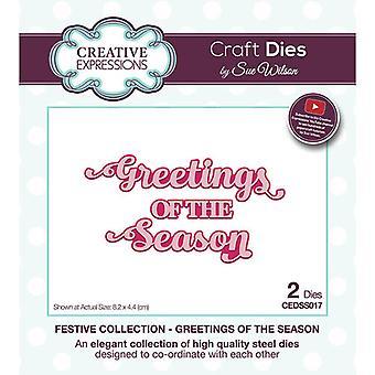 Creative Expressions Christmas - Juhlakokoelman leikkaus kuolee - Kauden tervehdys