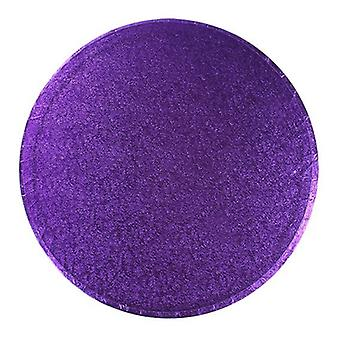 14&; (355mm) Cake Board Round Purple - pojedynczy