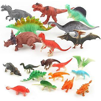 12pcs / zestaw Mini Zwierzęta Dinosaur Simulation Toy For (12szt)