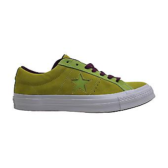Converse dame One Star Ox ruskind lav top lace up mode sneakers