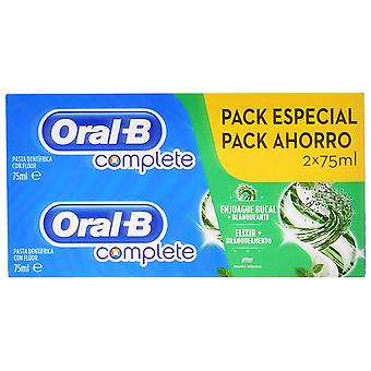 Oral B Complete Dentifrico Rinse + Whitening lot 2 Pieces