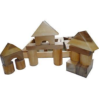 Qtoys Polska (USA) Bloki z naturalnego drewna - 34 Sztuki