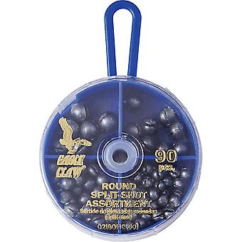 Eagle Claw Round Split-Shot Sinkers Dial Pack