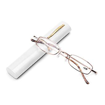 Glasses With Pen Tube Case