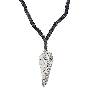 Læder Wing halskæde lavet i Haiti