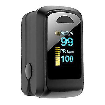 Bärbar hushålls fingertoppsoximeter syremättnad pulsmätare oval färgledd displayoximeter