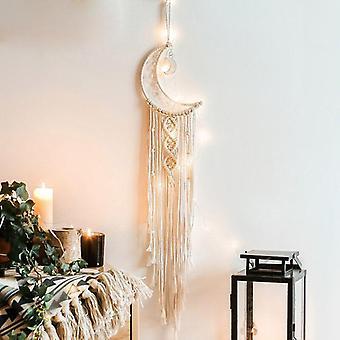 Boheemse handgemaakte macrame wanddecoratie