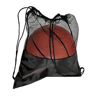 Multi-function Black Basketball Mesh Bags Portable Soccer Ball Storage Net