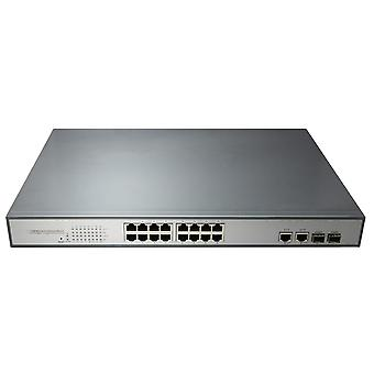 Switch POE PNI SWPOE16 with 16 10 / 100Mbps ports and 2 ports 10/100 / 1000Mbps