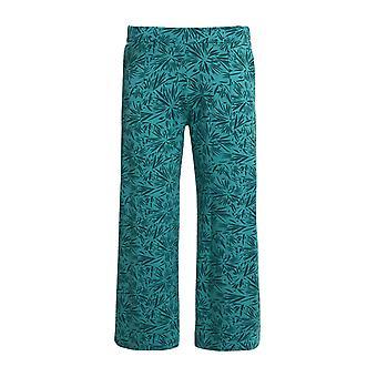 Tilda Bamboo Wide Leg Trousers Navy Marl