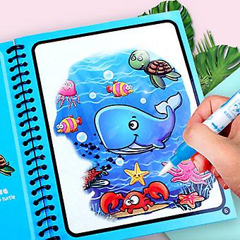 3 PCS Magic Water Drawing Book Reusable Coloring Book Sensory Early Education Toys For Kids Birthday Gift Montessori Toys
