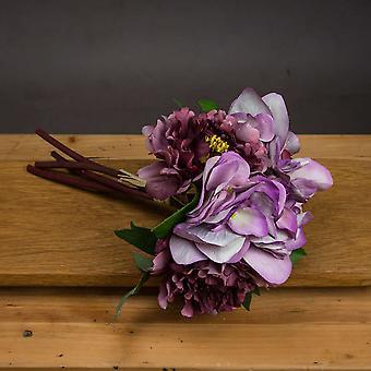 Hill sisätilat keinotekoinen Hydrangea ruusu kimppu