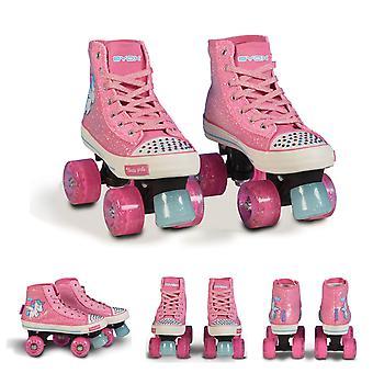 Byox rulleskøjter Alicorn pink, str S 32-33, PU hjul, ABEC-5, glitter Stones