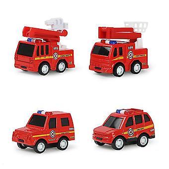سيارة اطفاء 4pcs سحب سيارة سبيكة انزلاق، لعبة الأطفال نموذج سيارة az8728