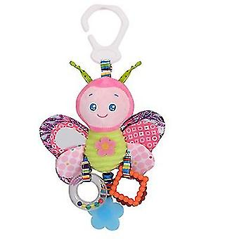 Butterfly happy monkey world cup hanger decoration, plush toy teether rattle az630