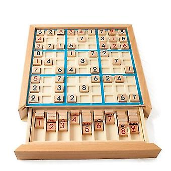 Blue wooden sudoku nine square grid game chess children's logical thinking training puzzle board game toy board x2478