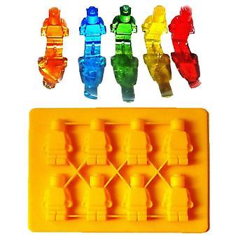 Ice/Chocolate/Jelly Shape - LEGO - Men's Bricks Building Bricks Robot