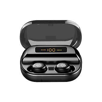 Mini kannettava langaton bluetooth 5.0 kuuloke led näyttö stereo 4000mah power pankki kuulokkeet kahdenvälinen puhelu kuulokkeet