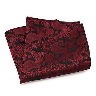 Punaviini paisley tasku neliö