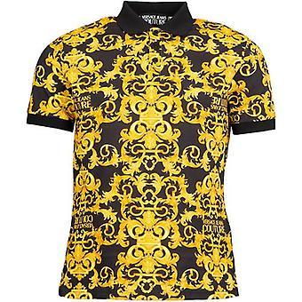Versace Jeans Couture Over Barokk Print Polo Skjorte