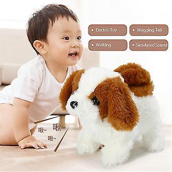 Elektrische speelgoed zachte simulatie teddy hond pluche wandelen gloeiend blaffende hond grappige simulatie bewegen