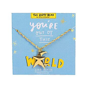 Gold Look Necklace - You're Out Of This World (Pack of 4)
